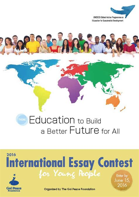 Education For Better Future Essay by Past Contests The Goi Peace Foundation