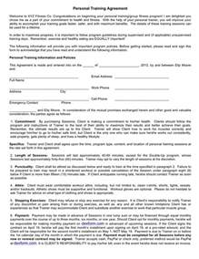 Personal Contract Template by Personal Agreement In Word And Pdf Formats