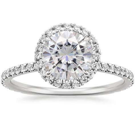 Moissanite Rings by Moissanite Waverly Ring 1 2 Ct Tw In 18k White