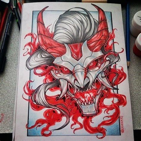 japanese oni mask tattoo designs 438 best images about hannya oni on