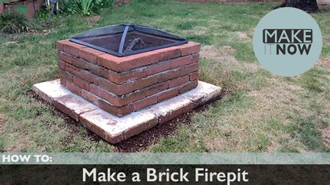 How To Make A Brick Fire Pit Makeitnow How To Make A Firepit Out Of Bricks