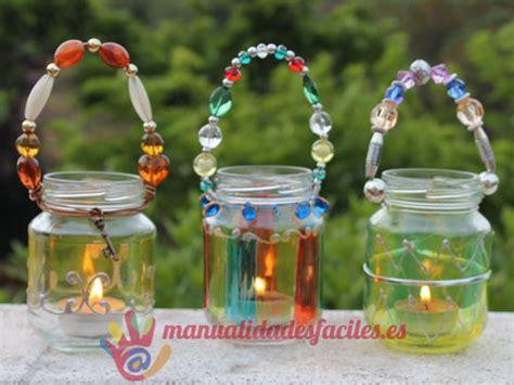 candelabros hechos con material reciclable portavelas manualidades faciles