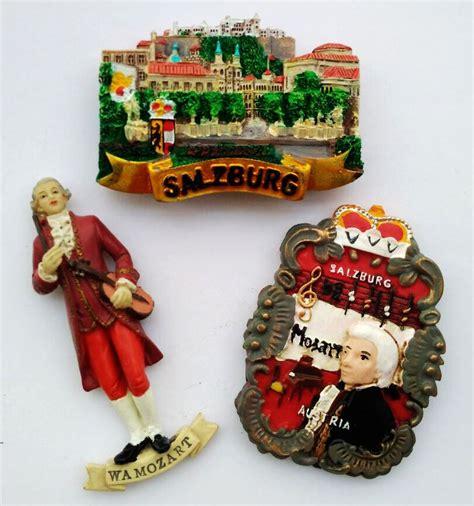 Magnet Jam Austria Souvenirs austria salzburg mozart 3d fridge magnets tourism souvenirs refrigerator magnetic stickers home