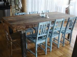Rustic Table And Chairs by Dining Room Vintage Distressed Dining Room Chairs To Blend
