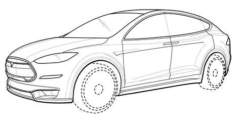 Tesla Drawings Tesla Model S Coloring Pages