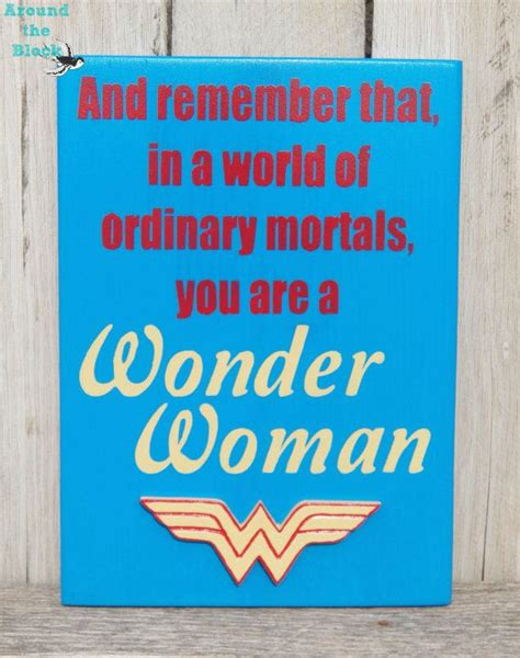 Superhero Bathroom Decor Wonder Woman Signwall Decor By Aroundtheblockaz On Etsy