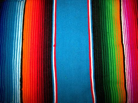 mexican colors decorate the interior with mexican blankets