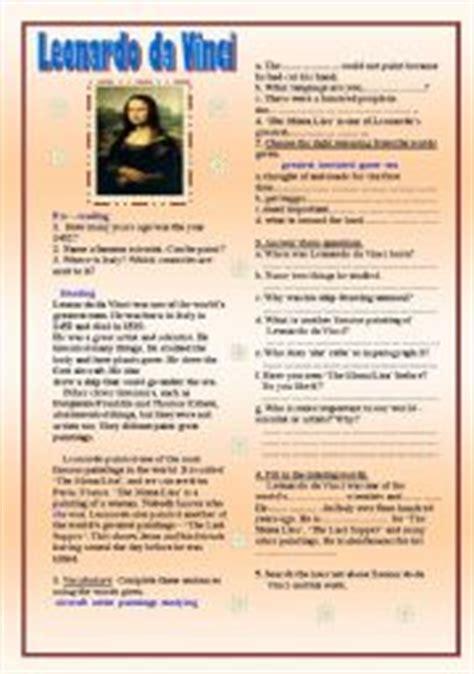 leonardo da vinci biography worksheet leonardo da vinci worksheet by kheerai kaewharn