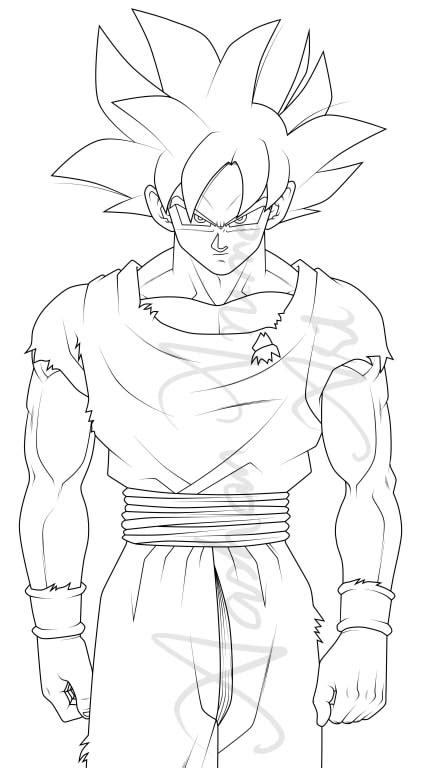 Ultra Instinct Goku Drawing