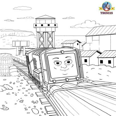 boat journey drawing thomas and friends misty island rescue coloring pages for