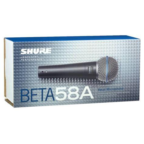 Mic Kabel Shure Beta 58a 3 shure beta 58a dynamic microphone at gear4music