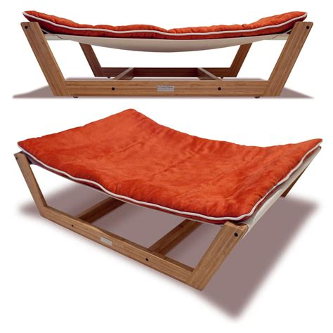 dog hammock bed pet lounge studios bambu nautical hammock pet bed in