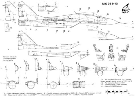 Free Rc Plans mikoyan gurevich mig 29 7 plans aerofred download free
