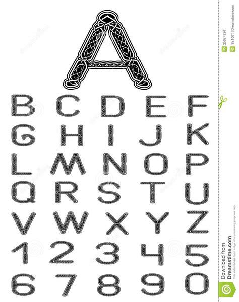 celtic pattern font download celtic font stock vector illustration of pattern sign