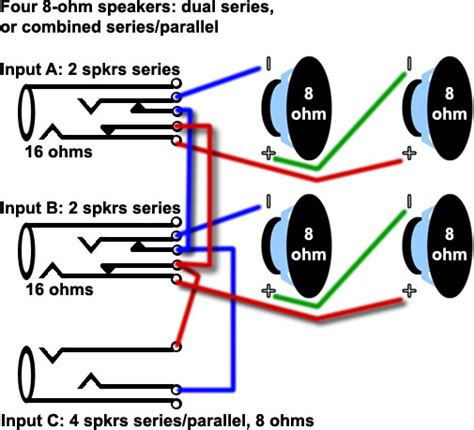 8 ohm pa speaker wiring diagram 8 get free image about
