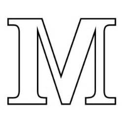 Block M Outline by Letter M Clipart Best
