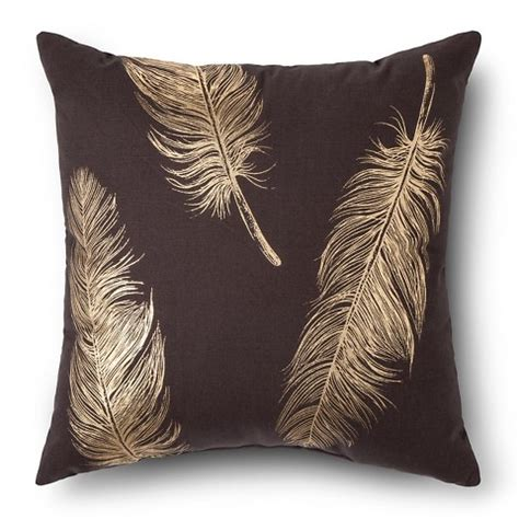 The Feather Pillow Sparknotes by Metallic Feather Throw Pillow Threshold Target