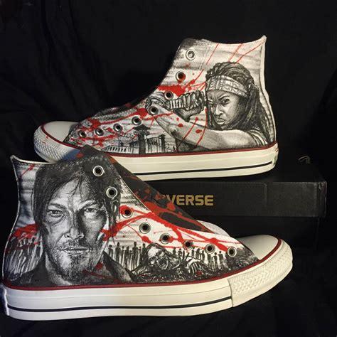 Handmade Sneakers - buy handmade the walking dead custom shoes