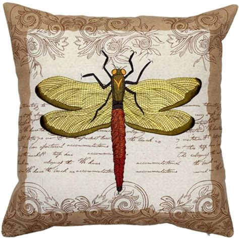 dragonfly throw pillows embroidered dragonfly throw pillow 18x18
