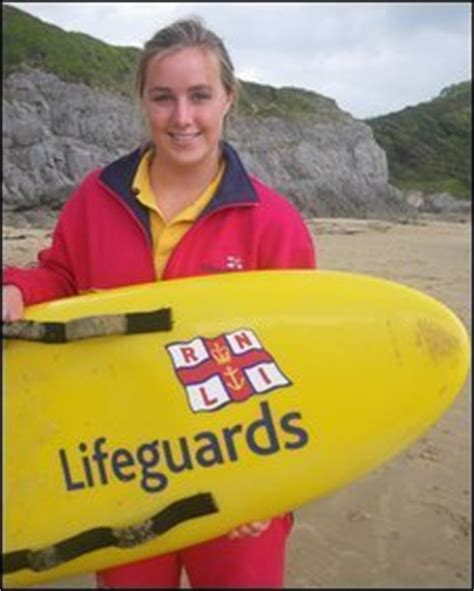 BBC NEWS   UK   Wales   Surfing champion joins lifeguards