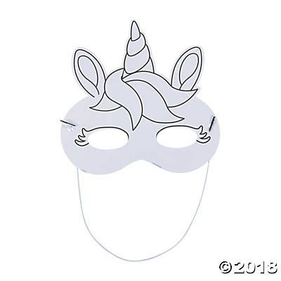 unicorn mask coloring page color your own unicorn masks oriental trading