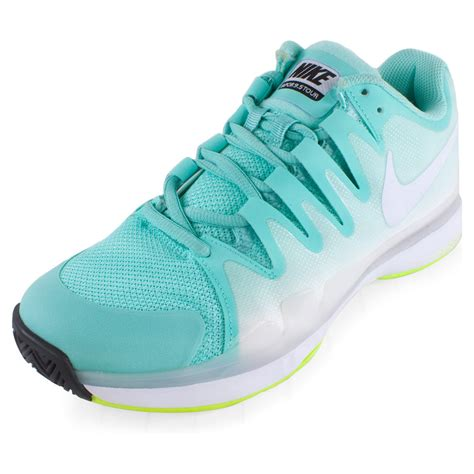 buy nike s zoom vapor 9 5 tour tennis shoe turq and volt