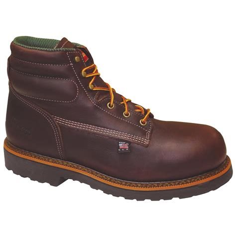 s thorogood 174 6 quot composite toe work boots brown