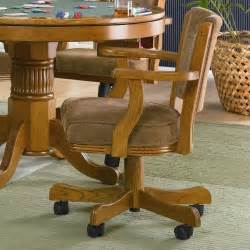 coaster mitchell upholsted arm w casters oak