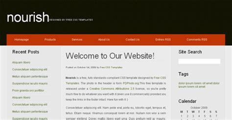 15 Three Column Css Templates Inf Scripts 3 Column Website Template