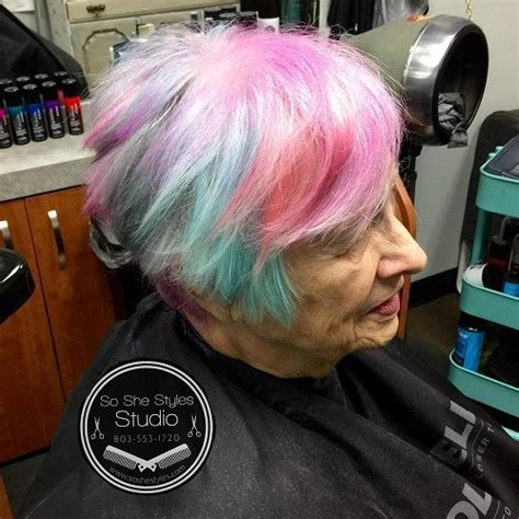 funky hair color ideas for older women funky pastel hair for older women the best hairstyles and