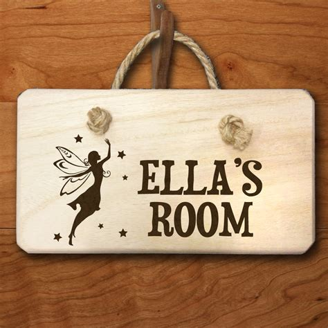 personalised fairy engraved door hanger treat republic