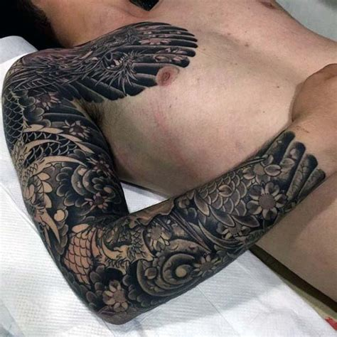 tattoo japanese dragon black 90 japanese dragon tattoo designs for men manly ink ideas