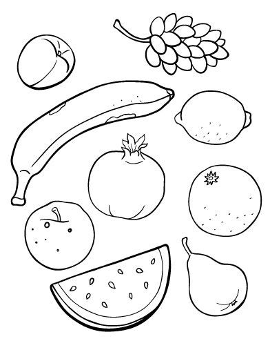 printable fruit and vegetable shapes 17 best ideas about fruit coloring pages on pinterest