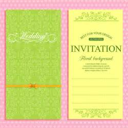 wedding invitation card template free vector in adobe illustrator ai ai vector illustration