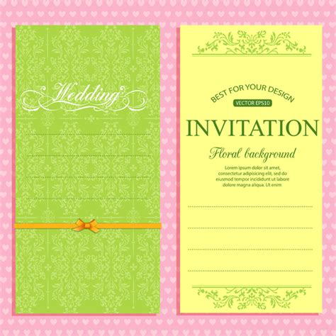 templates for invitation cards wedding invitation card template free vector in adobe