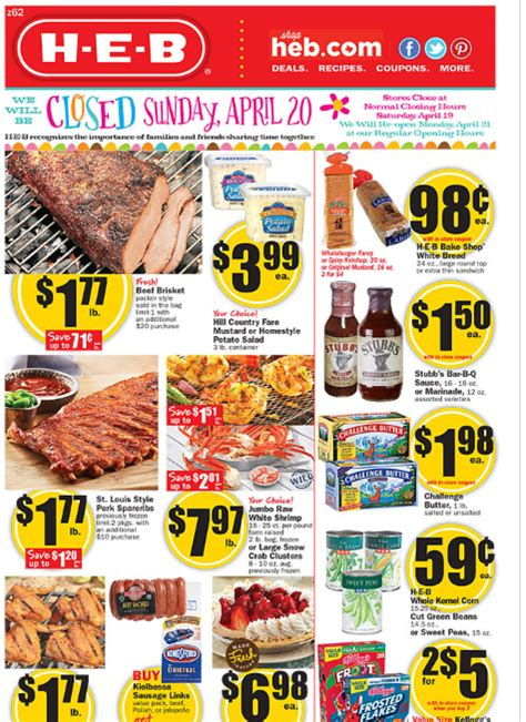 heb specials h e b weekly deals apr 16th 22nd