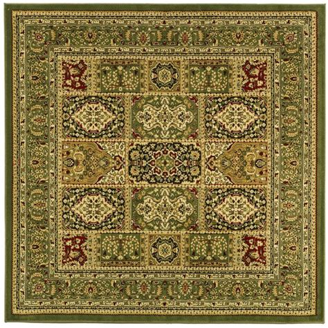 6 foot square rug safavieh lyndhurst multi green 6 ft x 6 ft square area rug lnh217a 6sq the home depot