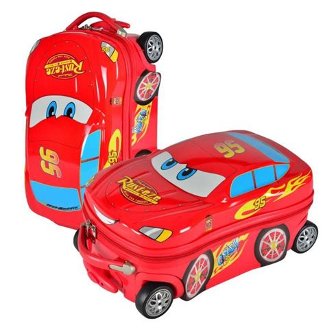 Troley Bag Tas Travel Troli Trolley Cars A Large 18 quot 20 quot cars child travel suitcase abs