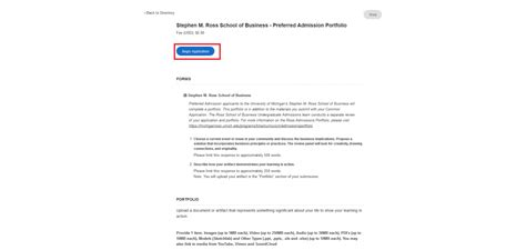 Ross Mba Essay Exles by Preparing Your Portfolio Michigan Ross