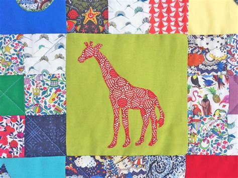 Patchwork Giraffe - caroline liberty fabric patterns kits and