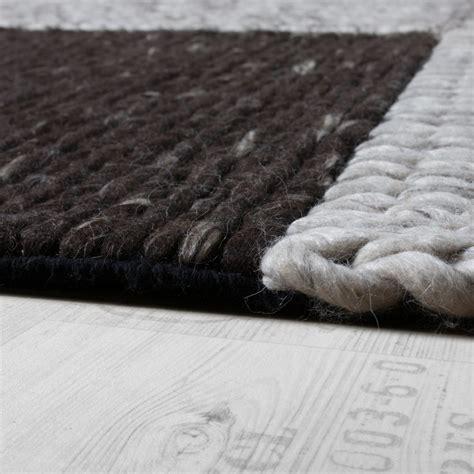 teppich geflochten teppich handgefertigt hochwertig 100 baumwolle karo