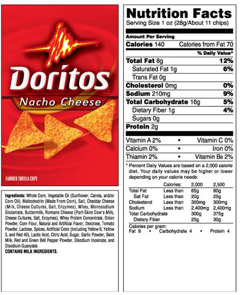 hot chips nutritional information baked doritos nutrition facts nutrition ftempo