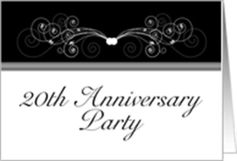 20th anniversary card template 20th anniversary invitations from greeting card universe