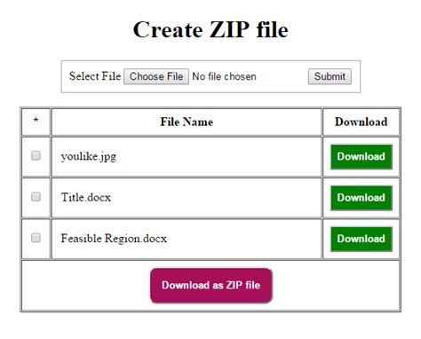 php tutorial zip download create and download as zip file in php free source code