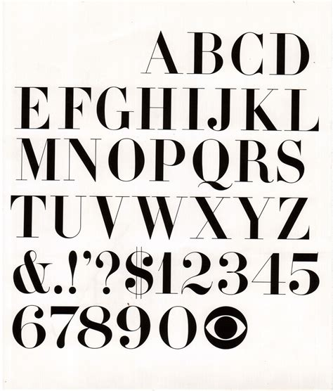 typography 1960s cbs didot font lou dorfsman early 1960 s the