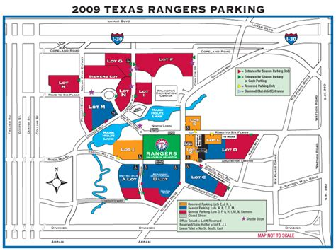 texas rangers ballpark parking map information on stadium schedule traffic etc roff will be closed