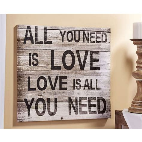 gift craft home decor giftcraft 086167 love sentiment canvas wall decor hope