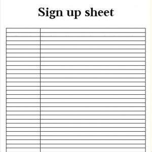 sign up sheet template google docs business template