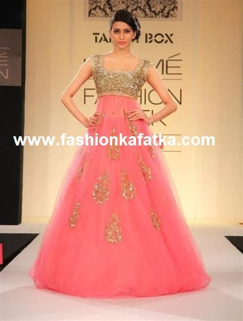 gown design sparkling pink designer gown at lakme fashion week