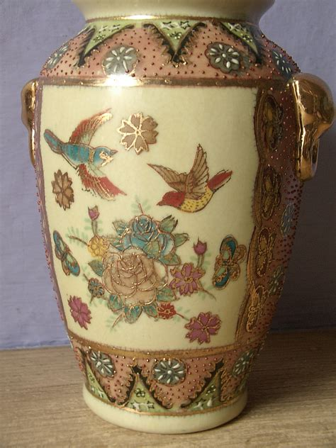 Painted Japanese Vases by Antique Japanese Moriage Vase Painted By Shoponsherman